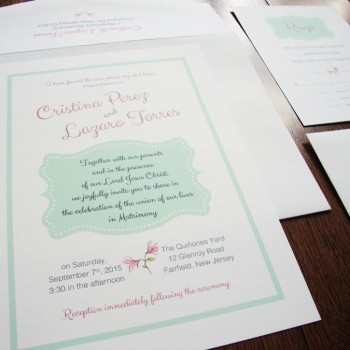 Simple Chic & Affordable Wedding Invitations